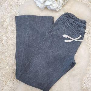 ROXY linen pantals, grey XS